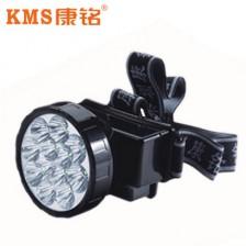 KMS康铭LED充电式头灯  12个超亮LED灯泡  超长照明时间
