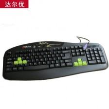 达尔优预压手感Ⅱ游戏单键盘  PS/2电脑键盘 家用电脑单键盘