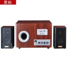 恩科S2850U多媒体有源电脑音箱 2.1木质低音炮电脑音响