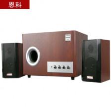 恩科多媒体有源音响2.1木质低音炮电脑音响  家用经典音响