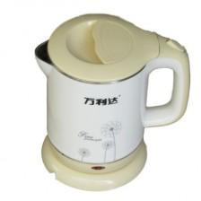 万利达快速电热水壶SHC-1521 不锈钢隔热电水壶 酒店水壶