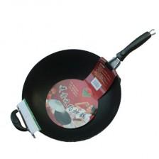 鸿牌美食之约炒锅36cm/电磁炉炒锅 微油烟多用电磁炉炒锅