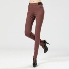 ALICAI冬装新品弹力棉高密斜复合绒加厚打底裤 休闲裤 青春  包邮