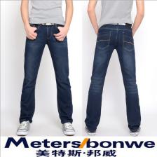 美特斯邦威新款男式韩版牛仔裤/美邦裤 修身直筒牛仔裤  包邮