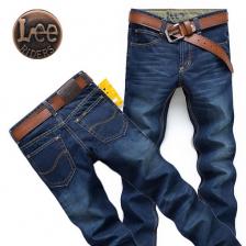 正品李牌LEE男式牛仔裤男裤 男装直筒修身牛仔长裤
