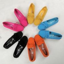 2014春季新款厂家直销牛皮豆豆鞋平底平跟女鞋驾车鞋单鞋