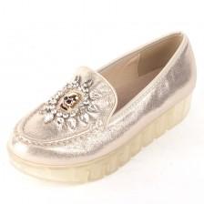 春秋冬新款松糕鞋坡跟骷颅头透明果底休闲鞋女鞋单鞋 包邮