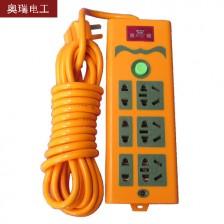 奥瑞 多插口排插 5米线 5000W 电脑 电磁炉 电暖气多用型排插